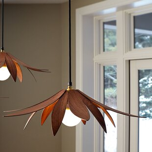 MacMaster Lotus 1-Light Novelty Pendant