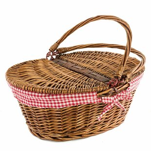 Country Style Wicker Picnic Basket