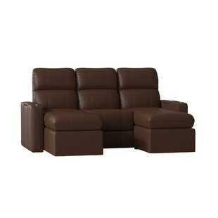 Contemporary Leather Home Theater Sofa (Row of 3) (Set of 3) by Red Barrel Studio