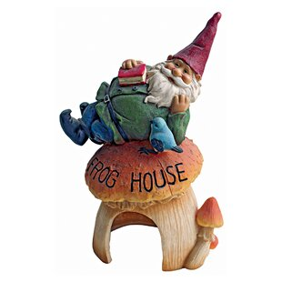 Gnome's Frog House Garden Statue by Design Toscano
