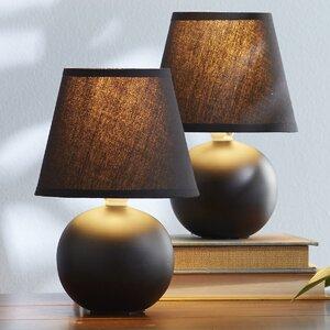 Leah Mini Ceramic Globe Table Lamp (Set of 2)