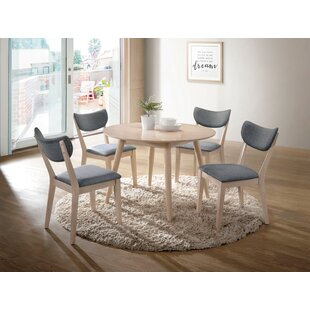 Castaneda 5 Piece Solid Wood Dining Set b..