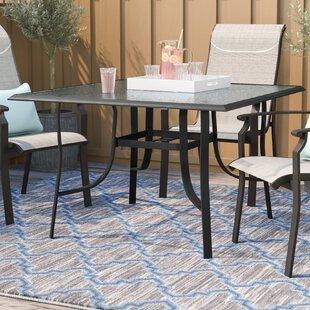 Ramon Glass Dining Table by Latitude Run