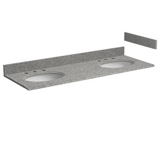 Affordable Granite 61 Double Bathroom Vanity Top ByHazelwood Home