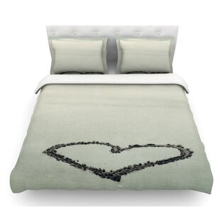 I Love the Beach by Robin Dickinson Ocean Sand Featherweight Duvet Cover
