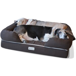 Ultimate Dog Bolster with Solid Memory Foam
