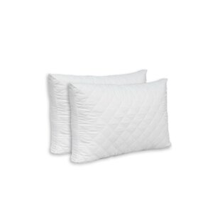Alwyn Home Double Quilted Pillow (Set of 2)