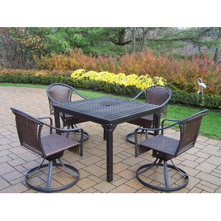 Lisabeth 5 Piece Swivel Dining Set