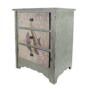 3 Drawer Coastal Accent Chest by Cheungs