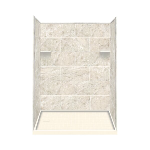 Samson Solid Surface Three Panel Shower Wall Kit | Wayfair