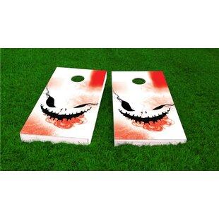 Custom Cornhole Boards Creepy Face Halloween Theme Cornhole Game Set