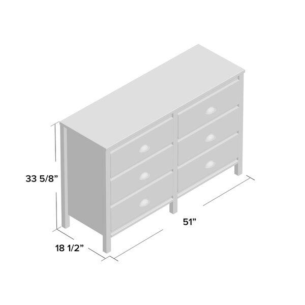 Travis 6 Drawer Double Dresser Reviews Birch Lane