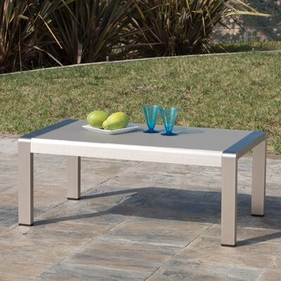 Durbin Outdoor Aluminum Coffee Table
