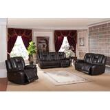 Mickey 3 Piece Leather Reclining  Living Room Set by Red Barrel Studio