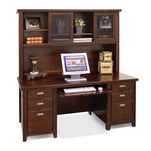 Martin Home Furnishings Tribeca Loft Executive Desk with Hutch