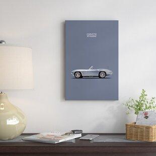 '1965 Chevrolet Corvette Stingray' Graphic Art Print on Canvas ByEast Urban Home