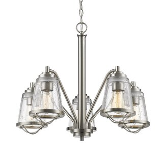 Breakwater Bay Crowder 5-Light Shaded Chandelier