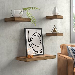 Foweler 4 Piece Wall Shelf Set