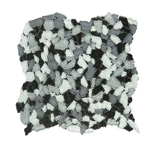 Review Glass Mosaic Tile in Gray/White by QDI Surfaces