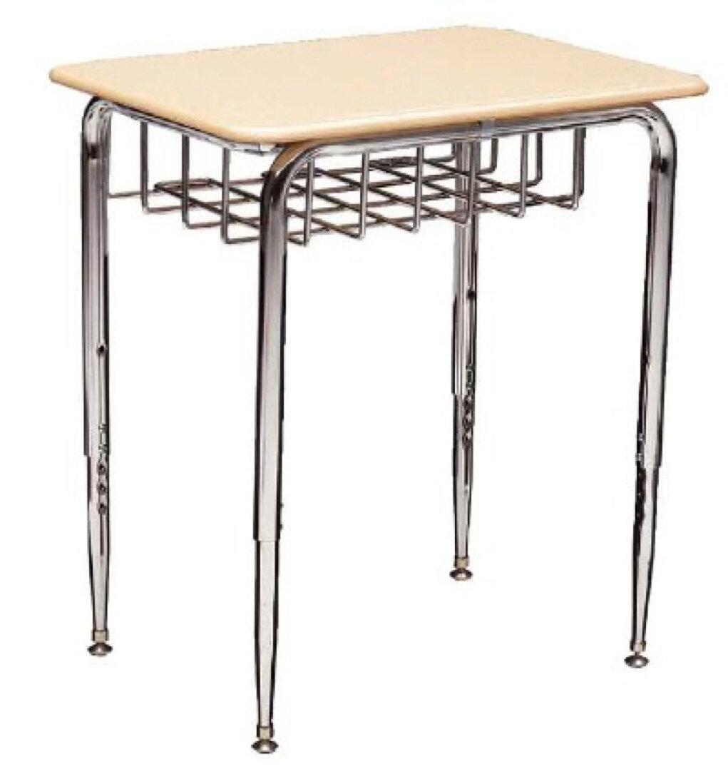 Scholar Craft 2400 Series Plastic Adjustable Height Open Front Desk Wayfair