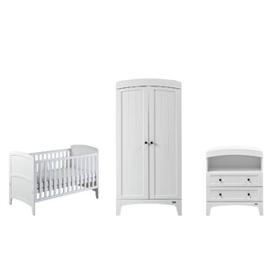 Acre Cot Bed 3 Piece Nursery Furniture Set