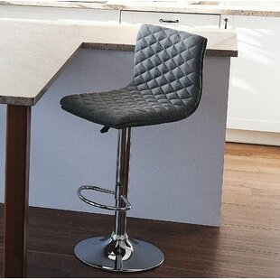 Bonnette Adjustable Height Swivel Bar Stool (Set of 2) by Orren Ellis