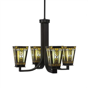 Millwood Pines Sade 4-Light Shaded Chandelier
