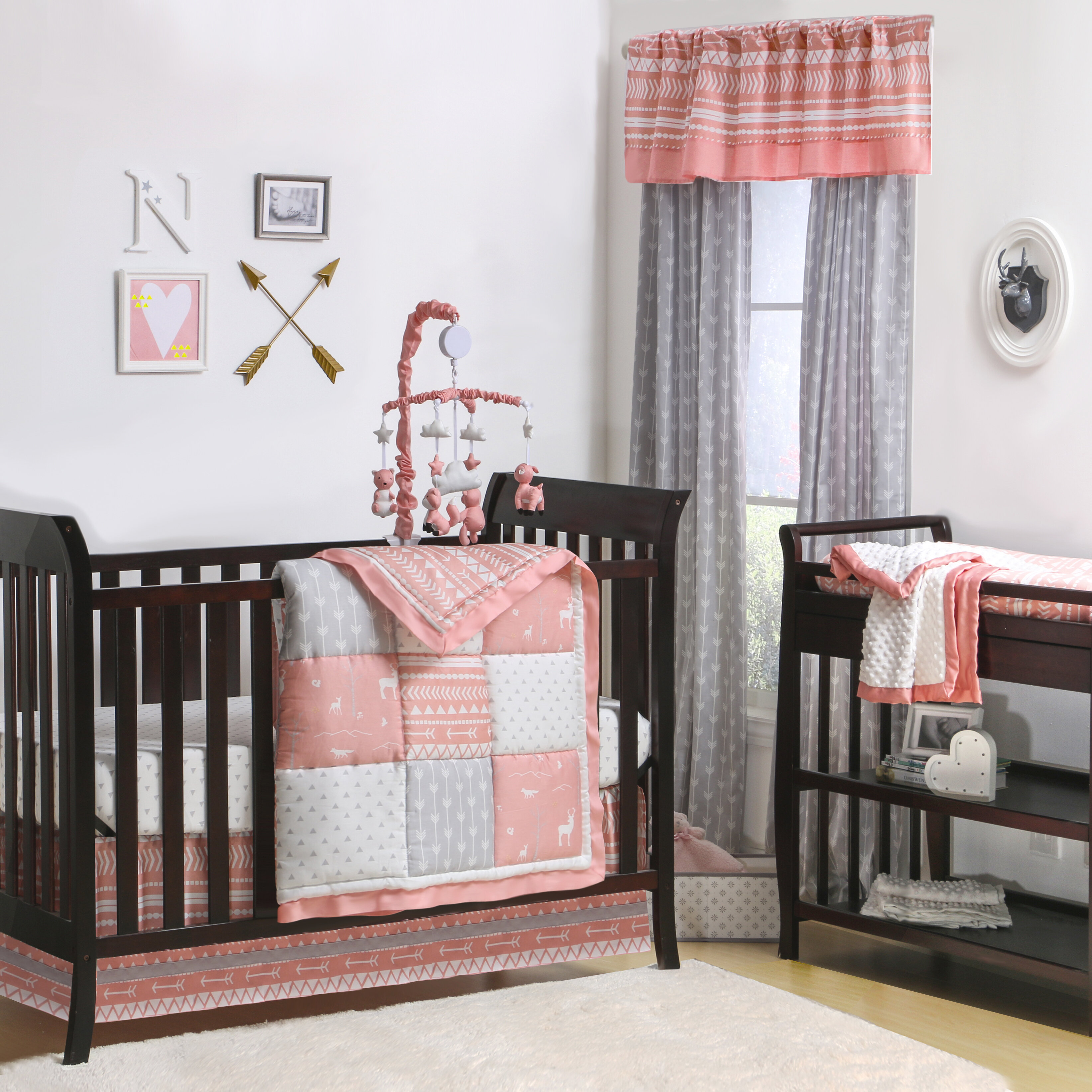 Woodland Pixie 4 Piece Crib Bedding Set
