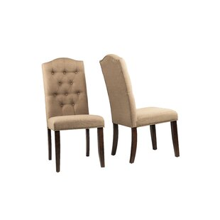 Red Barrel Studio Defreest Traditional Button Tufted Upholstered Dining Chair (Set of 2)