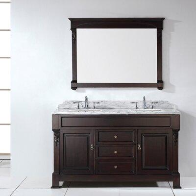 """Bathroom Vanity Kansas City brayden studio carpentier 59"""" double sink bathroom vanity set"""