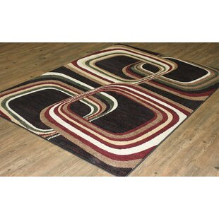 Affordable Price LifeStyle Black/Burgundy Area Rug By Rug Factory Plus