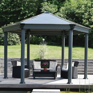 Palram Roma 11 Ft. W x 13.5 Ft. D Aluminum Patio Gazebo