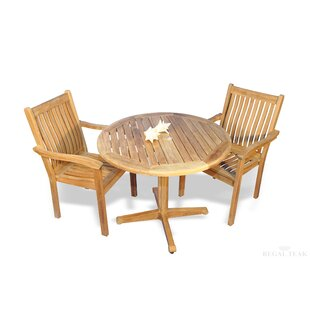 Red Barrel Studio Rossford 3 Piece Teak Bistro Set