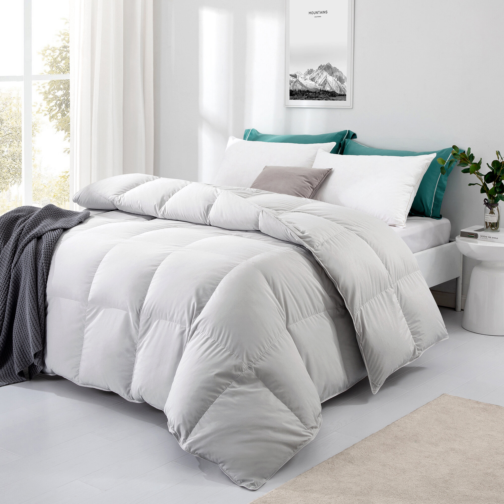Alwyn Home 600 All Season Duck Down Comforter Reviews Wayfair