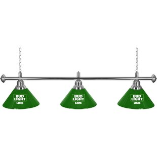 Bud Light Lime 3-Light Billiard Light by Trademark Global