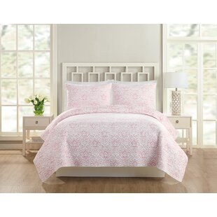 August Grove Meaghan Floral Coverlet