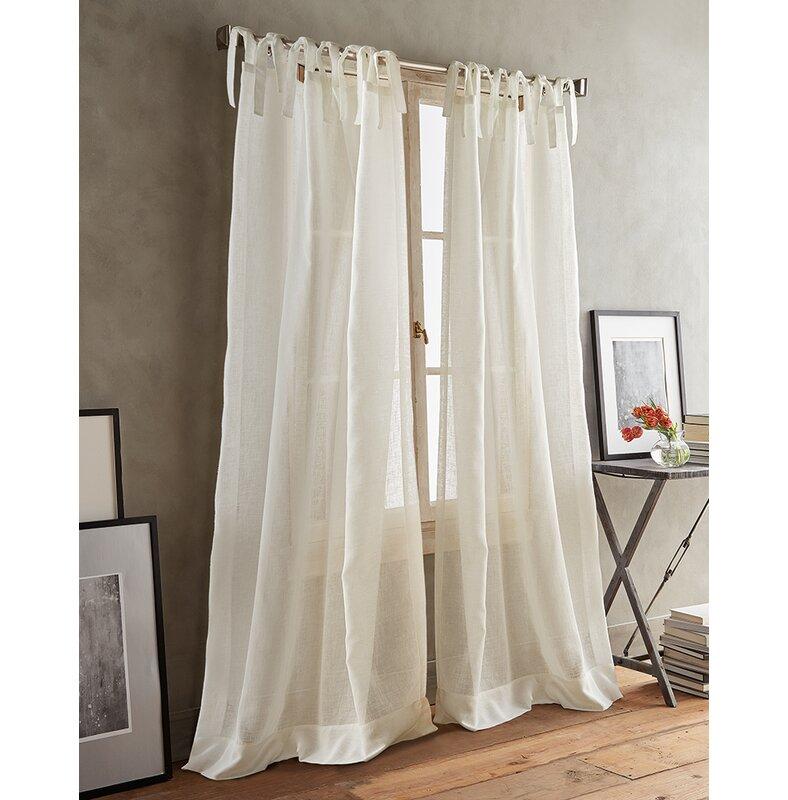 DKNY Paradox Tie Tabs Solid Semi Sheer Curtain Panels U0026 Reviews   Wayfair