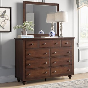 Oradell 9 Drawer Dresser with Mirror