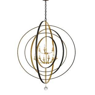 Willa Arlo Interiors Fitzhugh 9-Light Globe Chandelier