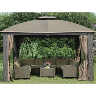 4 PIece Curtain for 10' W x 12' D Riviera Resin Gazebo by Sunjoy