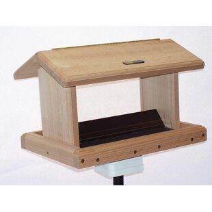 Birds Choice 5 Quart 2-Sided Cedar Hopper Bird Feeder