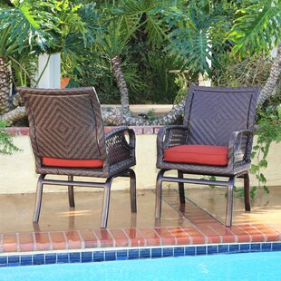 Bayou Breeze Shawny Patio Chair with Cushions (Set of 2)