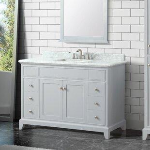 Bhushan Marble Top 49 Single Bathroom Vanity Set