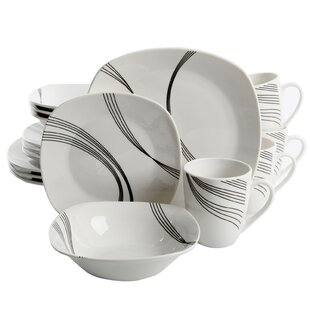 Leeroy 16 Piece Dinnerware Set, Service for 4