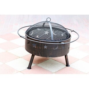 Jeco Inc. Starlight Steel Wood Burning Fi..