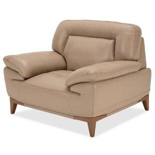 Michael Amini Mia Bella Turano Leather Club Chair