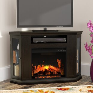 Dunminning Corner TV Stand for TVs up to 46 with Fireplace