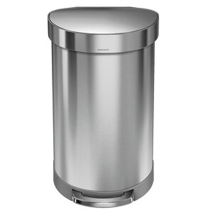 Stainless Steel 11.9 Gallon Step On Trash Can