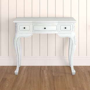 Soliz Hand Carved Wood Antique Vanity Desk by Lark Manor