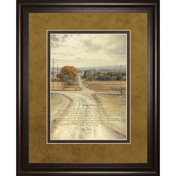 Living Life Bonnie Mohr Quote Enchanting Classyartwholesalers Living Todaybonnie Mohr Framed Painting